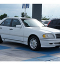 mercedes benz c class 1998 white sedan c230 4 cylinders automatic 77094