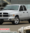 dodge ram 1500 2003 white pickup truck slt 8 cylinders automatic 62034