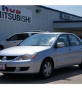 mitsubishi lancer 2005 silver sedan es 4 cylinders automatic 77094