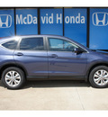 honda cr v 2013 blue suv ex gasoline 4 cylinders front wheel drive automatic 77034