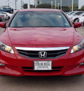 honda accord 2011 red coupe ex 4 cylinders automatic with overdrive 77074