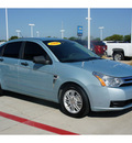 ford focus 2008 lt  blue sedan se gasoline 4 cylinders front wheel drive automatic 76503