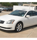 nissan maxima 2006 white sedan 3 5 se gasoline 6 cylinders front wheel drive shiftable automatic 77375