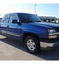 chevrolet silverado 1500 2003 blue pickup truck gasoline 8 cylinders rear wheel drive automatic with overdrive 77539