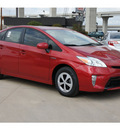 toyota prius 2012 red hatchback two hybrid 4 cylinders front wheel drive automatic 78232