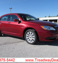 chrysler 200 2013 red sedan touring gasoline 4 cylinders front wheel drive automatic 45840