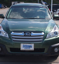 subaru outback 2013 green wagon 2 5i premium gasoline 4 cylinders all whee drive automatic 77090