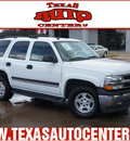 chevrolet tahoe 2005 white suv fleet gasoline 8 cylinders rear wheel drive automatic 78666