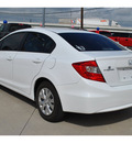 honda civic 2012 white sedan lx gasoline 4 cylinders front wheel drive automatic 78233