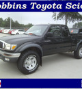 toyota tacoma 2002 black v6 gasoline 6 cylinders 4 wheel drive automatic 75503