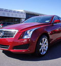 cadillac ats 2013 red sedan luxury 4 cylinders automatic 27330