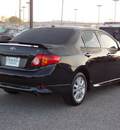 toyota corolla 2010 black sedan s gasoline 4 cylinders front wheel drive automatic with overdrive 77074