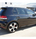 volkswagen gti 2010 black hatchback gasoline 4 cylinders front wheel drive 6 speed manual 77034
