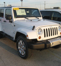 jeep wrangler unlimited 2013 white suv sahara gasoline 6 cylinders 4 wheel drive 5 speed automatic 62863