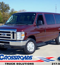 ford e series wagon 2009 red wagon e 350 xlt 12 pass  flex fuel 8 cylinders 2 wheel drive automatic 62708