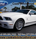 ford mustang 2013 white coupe v6 premium gasoline 6 cylinders rear wheel drive automatic 32401