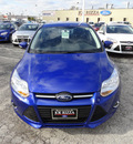 ford focus 2013 blue sedan se flex fuel 4 cylinders front wheel drive automatic with overdrive 60546