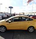 ford fiesta 2011 orange sedan sel gasoline 4 cylinders front wheel drive automatic with overdrive 60546