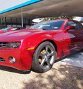 chevrolet camaro 2013 crystal red metalli coupe lt gasoline 6 cylinders rear wheel drive 6 speed manual 75075