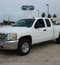 chevrolet silverado 1500 2013 white ls flex fuel 8 cylinders 4 wheel drive automatic 78155