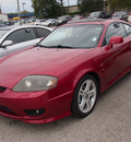 hyundai tiburon 2005 red coupe gt v6 6 cylinders automatic 77301