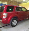 mercury mariner 2008 red suv v6 6 cylinders automatic with overdrive 44883