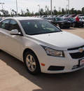 chevrolet cruze 2011 white sedan lt gasoline 4 cylinders front wheel drive automatic 77656