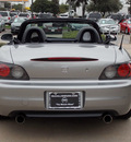 honda s2000 2001 silver gasoline 4 cylinders rear wheel drive 6 speed manual 77477