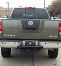 nissan titan 2005 dk  green le flex fuel 8 cylinders 4 wheel drive automatic with overdrive 77477