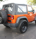 jeep wrangler 2011 orange suv sport gasoline 6 cylinders 4 wheel drive automatic 27616