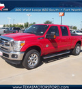 ford f 250 super duty 2012 red lariat 8 cylinders automatic 76108