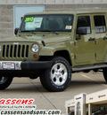 jeep wrangler 2013 commando green suv 6 cylinders automatic 62034
