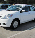 nissan versa 2013 white sedan sv gasoline 4 cylinders front wheel drive automatic 33884