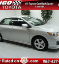 toyota corolla 2013 silver sedan s gasoline 4 cylinders front wheel drive automatic 91731