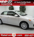 toyota corolla 2013 silver sedan le gasoline 4 cylinders front wheel drive automatic 91731