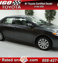 toyota corolla 2013 gray sedan le gasoline 4 cylinders front wheel drive automatic 91731