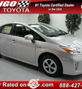 toyota prius 2012 silver hatchback three hybrid 4 cylinders front wheel drive automatic 91731