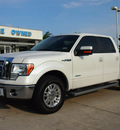 ford f 150 2012 white lariat 6 cylinders automatic 76011