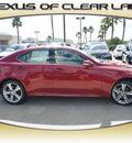 lexus is 250 2013 red sedan gasoline 6 cylinders rear wheel drive automatic 77546