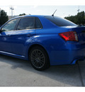 subaru impreza wrx 2012 blue sedan wrx gasoline 4 cylinders all whee drive 5 speed manual 77099