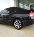 honda civic 2009 black sedan si gasoline 4 cylinders front wheel drive 6 speed manual 77521