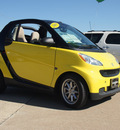 smart fortwo 2008 yellow passion cabrio gasoline 3 cylinders rear wheel drive automatic 76502