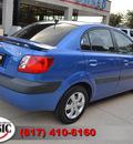 kia rio 2008 blue sedan lx gasoline 4 cylinders front wheel drive automatic 76051