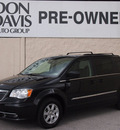 chrysler town and country 2012 black van touring 6 cylinders automatic 76011