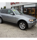 bmw x3 2006 silver gray suv 3 0i gasoline 6 cylinders all whee drive automatic 07724