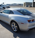 chevrolet camaro 2013 silver ice metallic coupe lt gasoline 6 cylinders rear wheel drive 6 speed automatic 76087