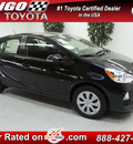 toyota prius c 2012 black two hybrid 4 cylinders front wheel drive not specified 91731
