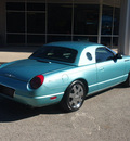 ford thunderbird 2002 lt  blue deluxe gasoline 8 cylinders rear wheel drive automatic 76049