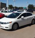 honda civic 2012 white sedan ex gasoline 4 cylinders front wheel drive automatic 76053