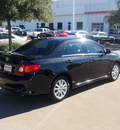 toyota corolla 2009 black sedan s gasoline 4 cylinders front wheel drive automatic 76053